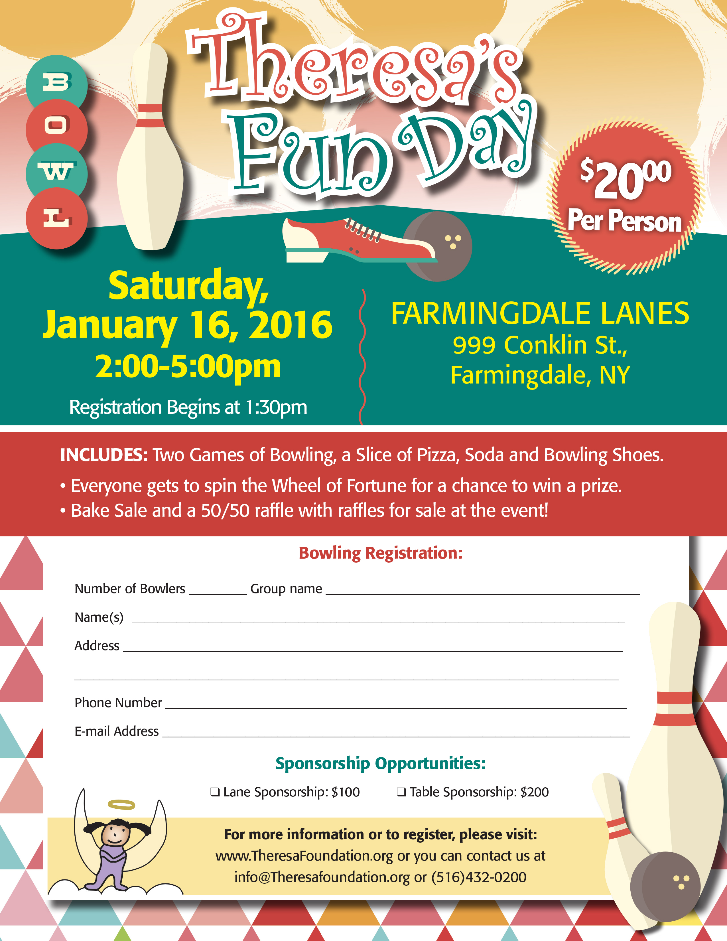 Theresa's Fun Day Bowling Fundraiser 2016